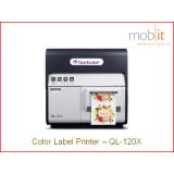 QL-120X Farbetikettendrucker CMYK, bis 1200 dpi, Cutter