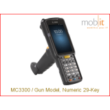 MC3300 Gun Std, 1D Laser, 29-Key, AOSP, 2/16GB, Hi Bat
