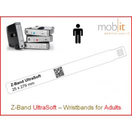 Patientenarmband UltraSoft, Erwachsene, 25x279mm weiss