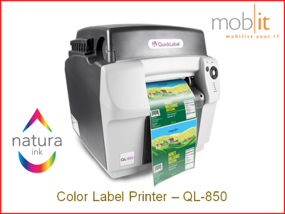 AstroNova QuickLabel QL-850 Color Label Printer CMYK 1600 dpi, Natura Ink | ☎ 044 800 16 30 | mobit.ch