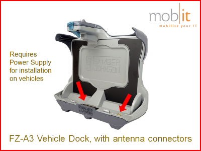 Panasonic Toughbook FZ-A3, Vehicle Dock with antenna connectors | ☎ +41 44 800 16 30, info@mobit.ch