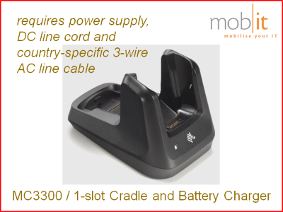 Zebra MC3300 | Cradle and Battery Charger 1-slot | ☎ 044 800 16 30 | mobit
