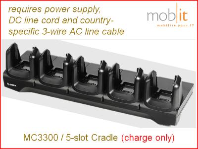 Zebra MC3300 Cradle Charger 5-slot
