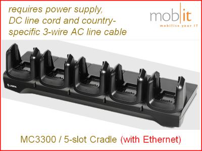 Zebra MC3300 Mobile Computer | Cradle Charger Ethernet 5-slot | ☎ 044 800 16 30 | mobit