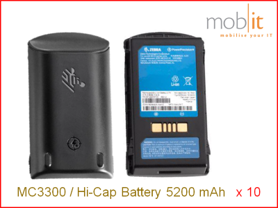 Zebra MC3300 High Capacity Battery 5200 mAh - 10 Pack