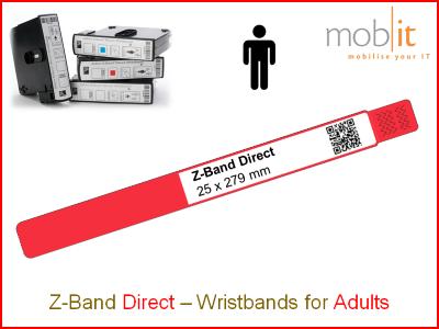 Hospital Wristbands, Patientenarmbänder, Bracelets patients | ☎ 044 800 16 30, info@mobit.ch