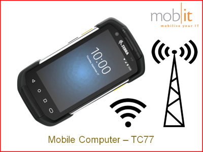 Zebra TC77 Mobile Computer - Handheld Ruggedized IP67 Android WLAN + WWAN | TC77HL-5MG24BG-A6 | mobit