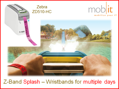 Zebra Z-Band Splash Wristbands, Armbänder, Bracelets |☎ 044 800 16 30, mobit.ch
