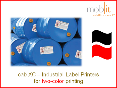 cab XC Label Printers   ☎ 044 800 16 30 ★ info@mobit.ch
