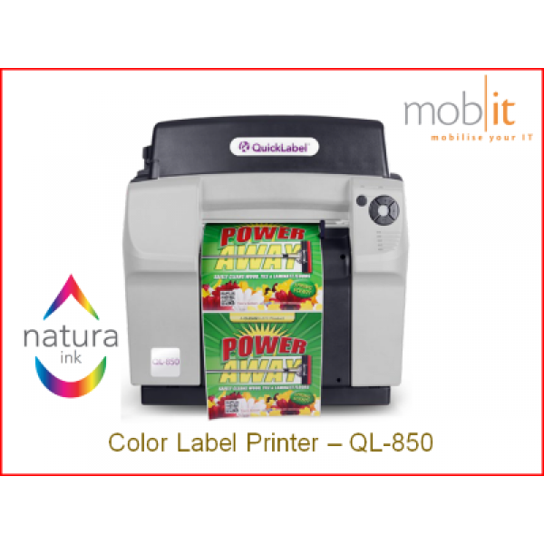 QuickLabel QL-850 Color Label Printer CMYK 1600 dpi, Natura Ink | ☎ 044 800 16 30 | mobit