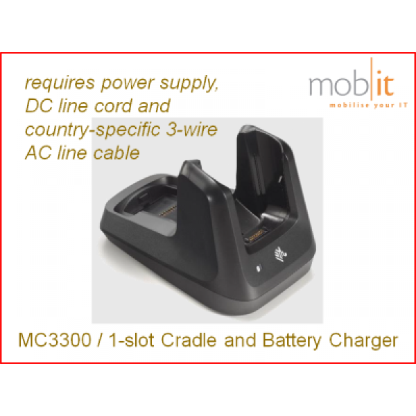 Zebra MC3300 Cradle and Battery Charger 1-slot