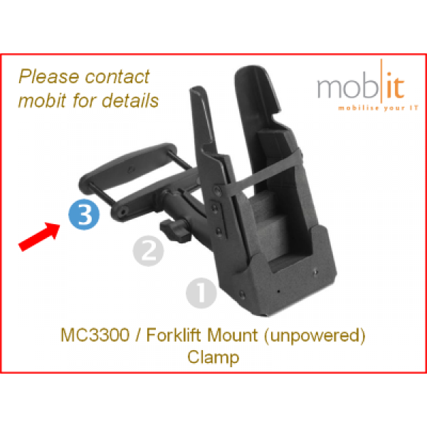 Zebra MC3300 Mobile Computer | Forklift Mount Clamp | ☎ 044 800 16 30 | mobit