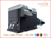 AstroNova QuickLabel QL-300 Color Label Printer CMYK+W 1200 dpi | ☎ 044 800 16 30 | mobit.ch