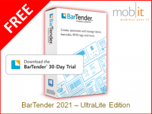 BarTender 2021 Label Software - FREE Edition   ☎ 044 800 16 30, info@mobit.ch