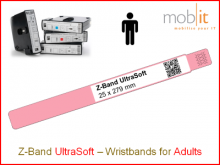 Hospital Wristbands, Patientenarmbänder, Bracelets patients | ☎ 044 800 16 30, info@mobit.ch