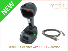 Zebra DS9908 Scanner with RFID - corded | ☎ 044 800 16 30, info@mobit.ch
