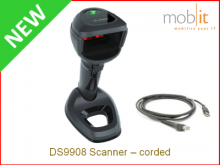 Zebra DS9908 Scanner - corded | ☎ 044 800 16 30, info@mobit.ch
