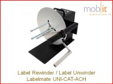Labelmate Rewinder-Unwinder for Label Printers | ☎ 044 800 16 30, info@mobit.ch