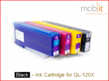Tintenpatrone Black für QL-120X Farbetikettendrucker