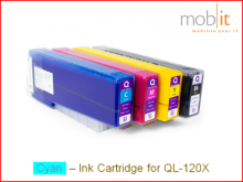 Tintenpatrone Cyan für QL-120X Farbetikettendrucker