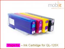 Tintenpatrone Magenta für QL-120X Farbetikettendrucker