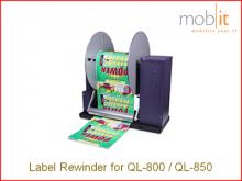 RW-800 Etikettenaufwickler für Farbetikettendrucker QL-800