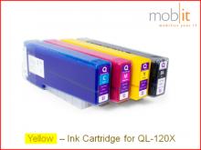 Tintenpatrone Yellow für QL-120X Farbetikettendrucker