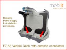 Fahrzeug-Docking für Toughbook A3, mit Antennenanschlüssen