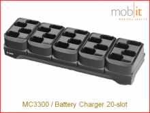 MC3300 Battery Charger, 20-slot