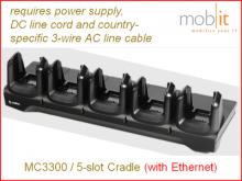 MC3300 Ethernet Cradle, 5-slot
