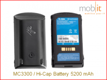 MC3300 Lithium-Ion Battery, High Capacity, 5200 mAh, 1 x