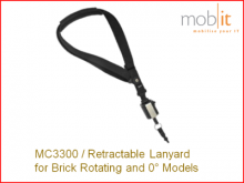 MC3300 Retractable Lanyard for Brick 0° and Rotating Models