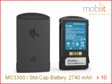 MC3300 Lithium-Ion Battery, Standard Cap., 2740 mAh, 10 x