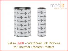 Zebra Wachs/Harz Farbband - 110mm x 74m, 12 Rollen/Box