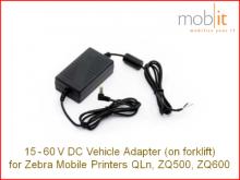 Zebra ZQ500/ZQ600 15-60V DC Adapter mit offenem Kabelende