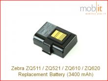 Li-Ion Batterie 3250 mAh zu ZQ610/ZQ620, ZQ511/ZQ521