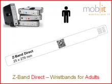 Patientenarmband Direct, Erwachsene, 25x279mm weiss