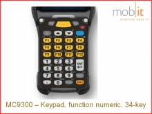 Tastatur zu Zebra MC9300, function numeric, 34-key