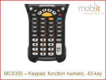 Tastatur zu Zebra MC9300, function numeric, 43-key