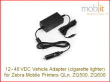 Fahrzeugadapter 12-48V für mob. Drucker, Zigarettenanzünder