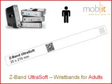 Patientenarmband UltraSoft, Erwachsene, 25x275mm weiss