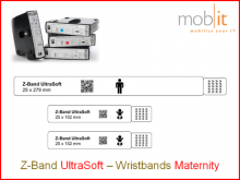 Mutterschafts-Armband UltraSoft, Mutter+2Babys, 25x583mm weiss