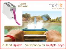 Mehrtag Armbänder Splash, für Erwachsene, gelb, 25x254mm