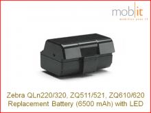 Li-Ion Batterie 6500 mAh zu QLn220/320, ZQ610/620, ZQ511/521