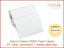 Thermodirekt Papier Etiketten - 101.6x76.2mm, 16 Rollen/Box