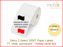 Thermotransfer Papier Etiketten - 57 x 32 mm, 12 Rollen/Box