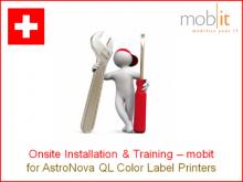m|care - Installationsunterstützung vor Ort für Farbetikettendrucker