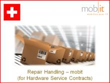 Reparaturabwicklung durch mobit, für 2 Jahre Service-Vertrag