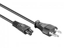 Stromkabel 3-Pol Mickey Mouse Stecker T12-C5, schwarz, 2m