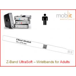 Bracelet patient UltraSoft, adultes, 19x279mm blanc
